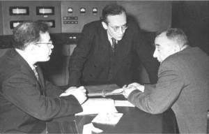 М.С. Рабинович, В.И. Векслер, Н.А. Моносзон. 1960 г.